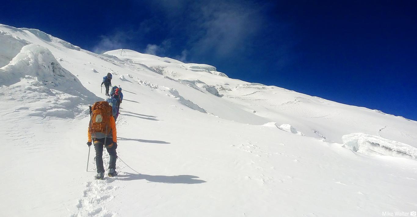 Climbing on Cotopaxi