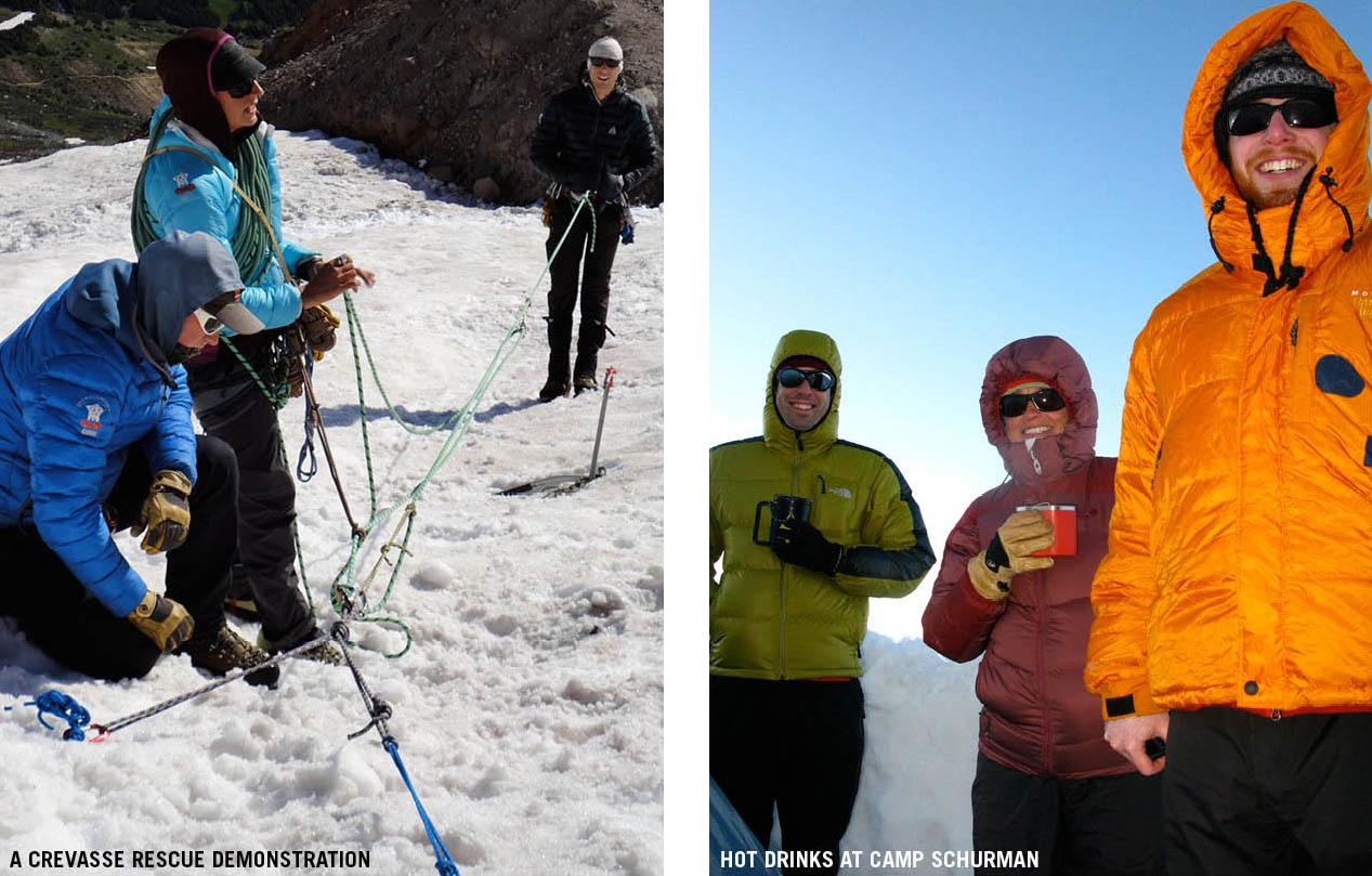 Climb To Camp Schurman