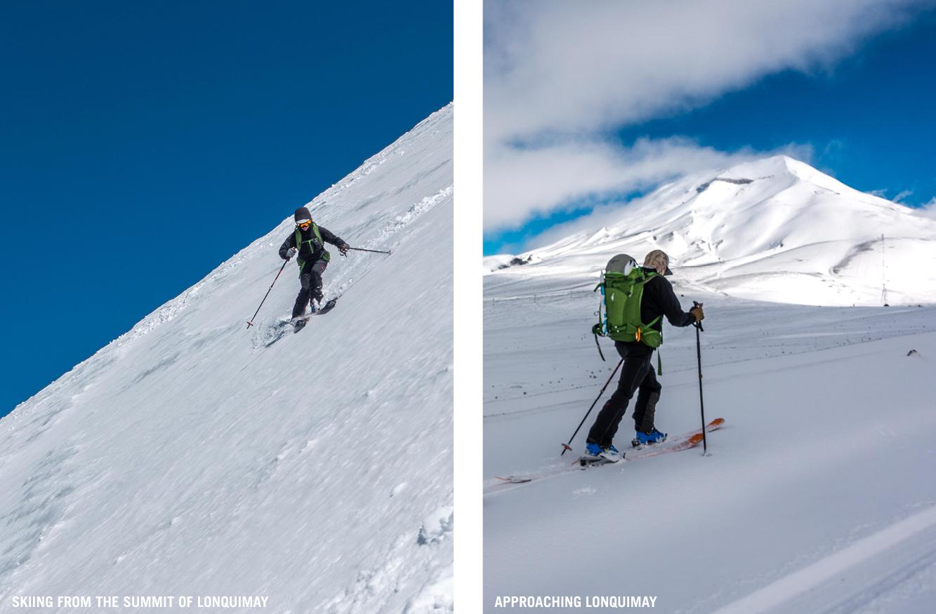 Skiing Lonquimay