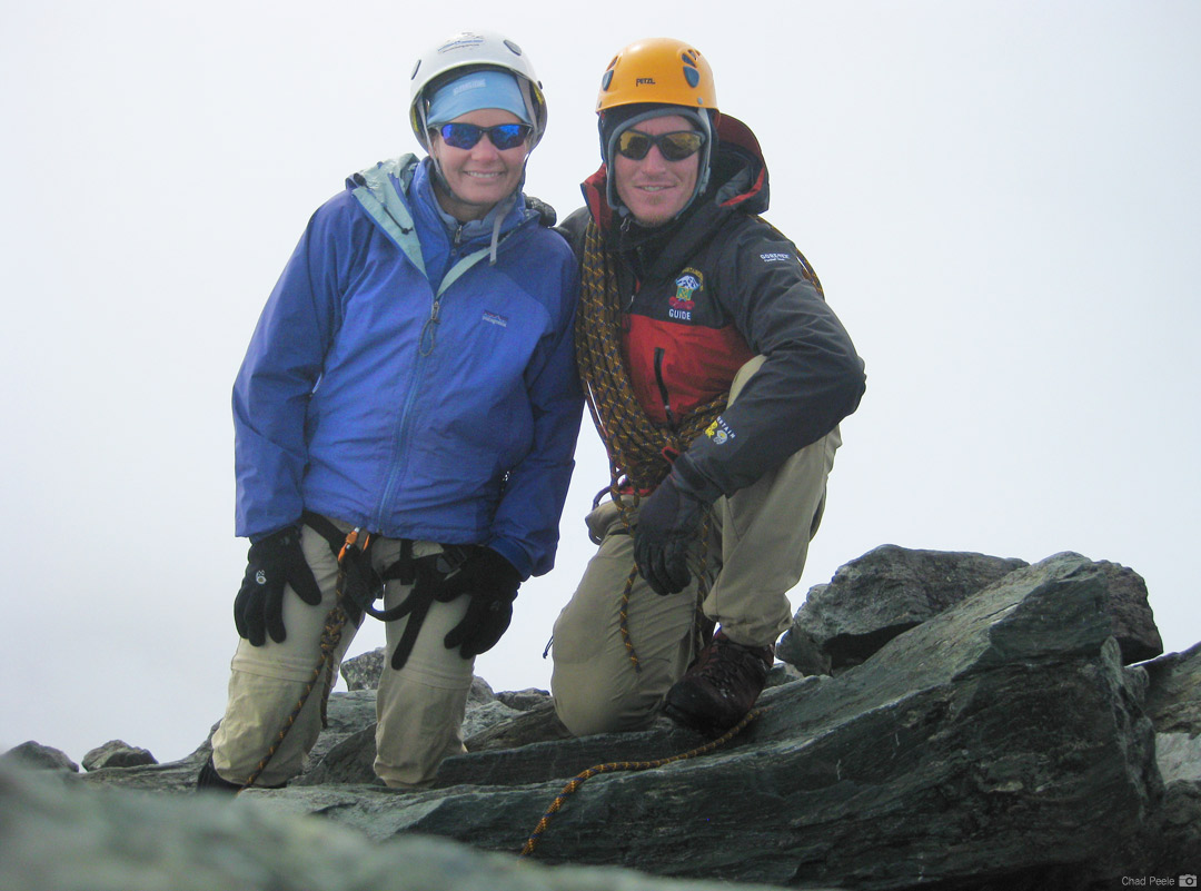 On the summit of Mt. Shuksan