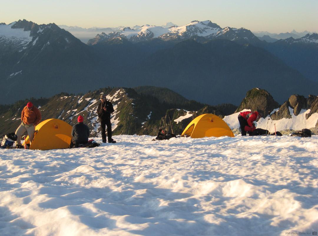Camp on the Sulphide Glacier