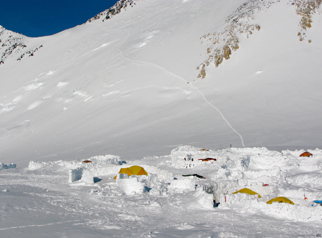 17 Camp (High Camp/Camp 5) on Denali's West Buttress Route