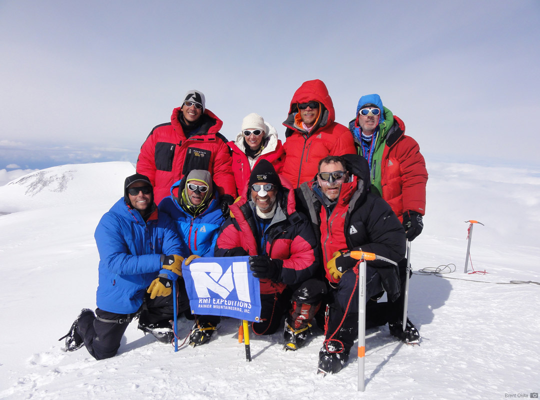 An RMI Team on the summit of Mt. McKinley (20,320')