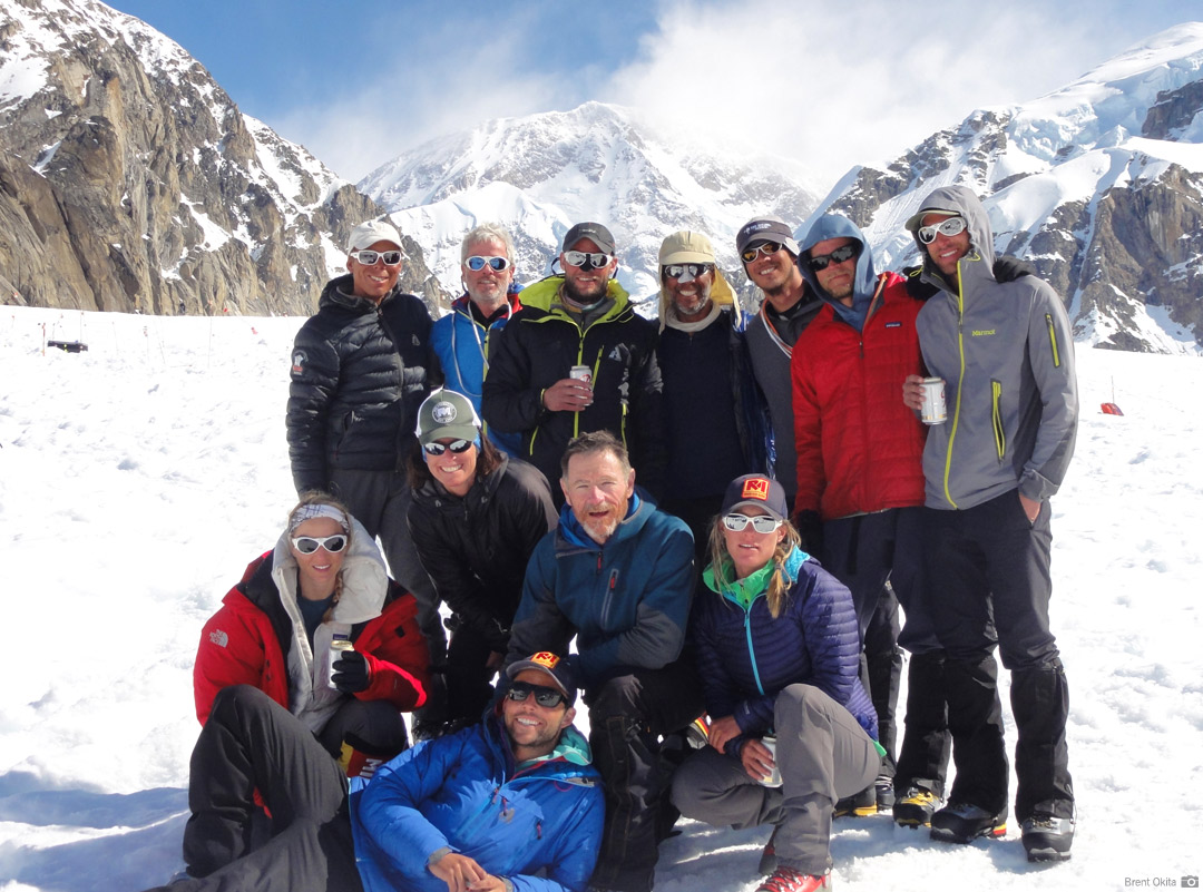 An RMI Team back at Base Camp after a successful expedition