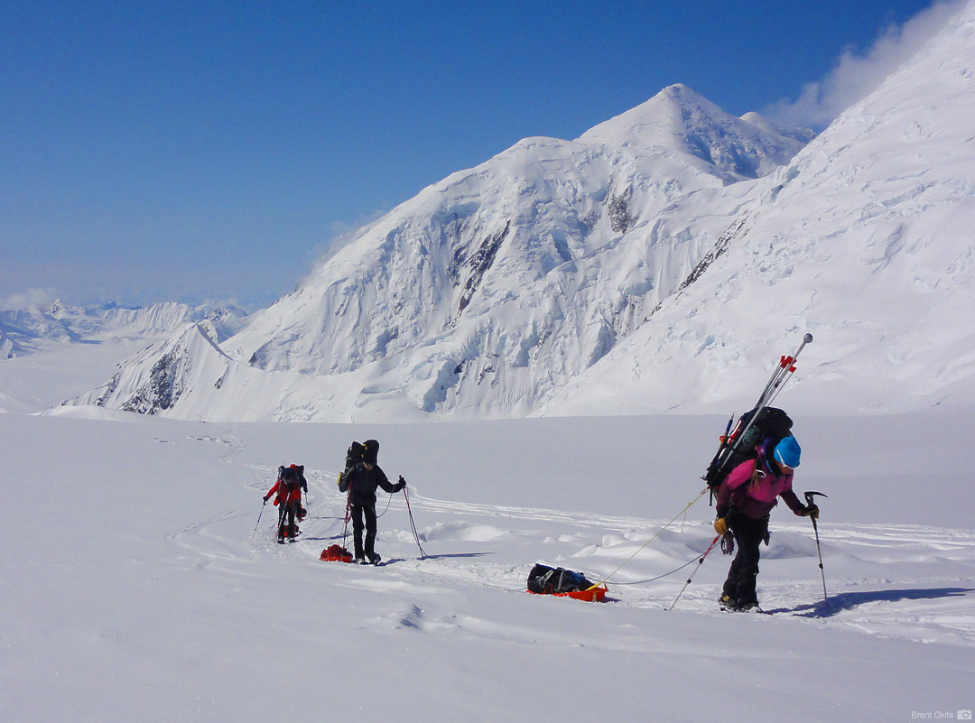 An RMI Team approaching Camp 2 at 9,500'