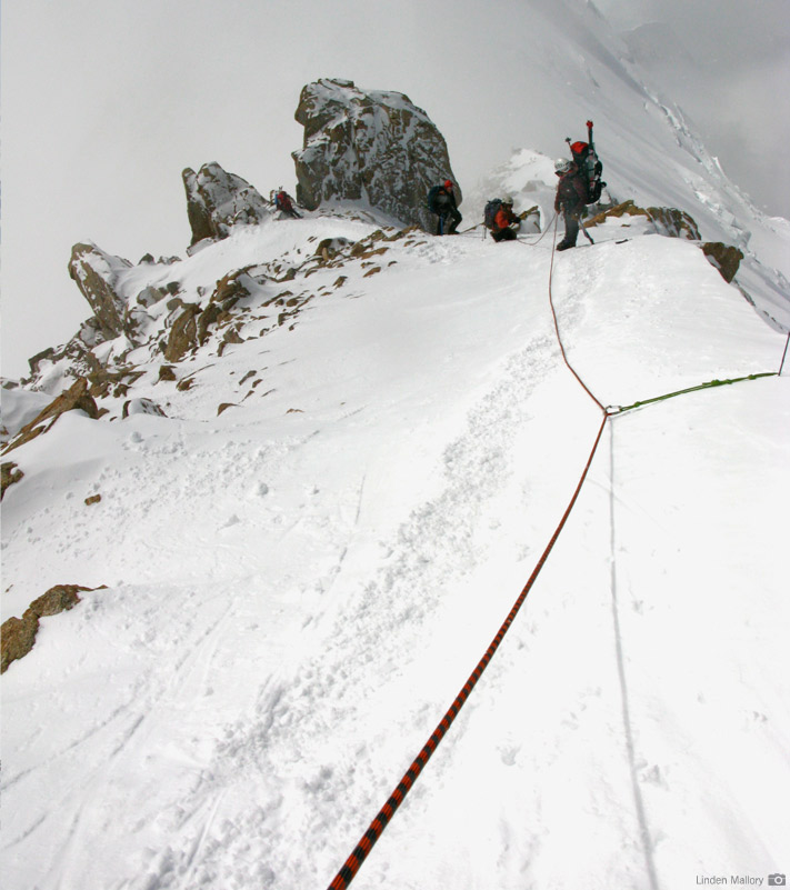 An RMI Team climbing McKinley's West Buttress