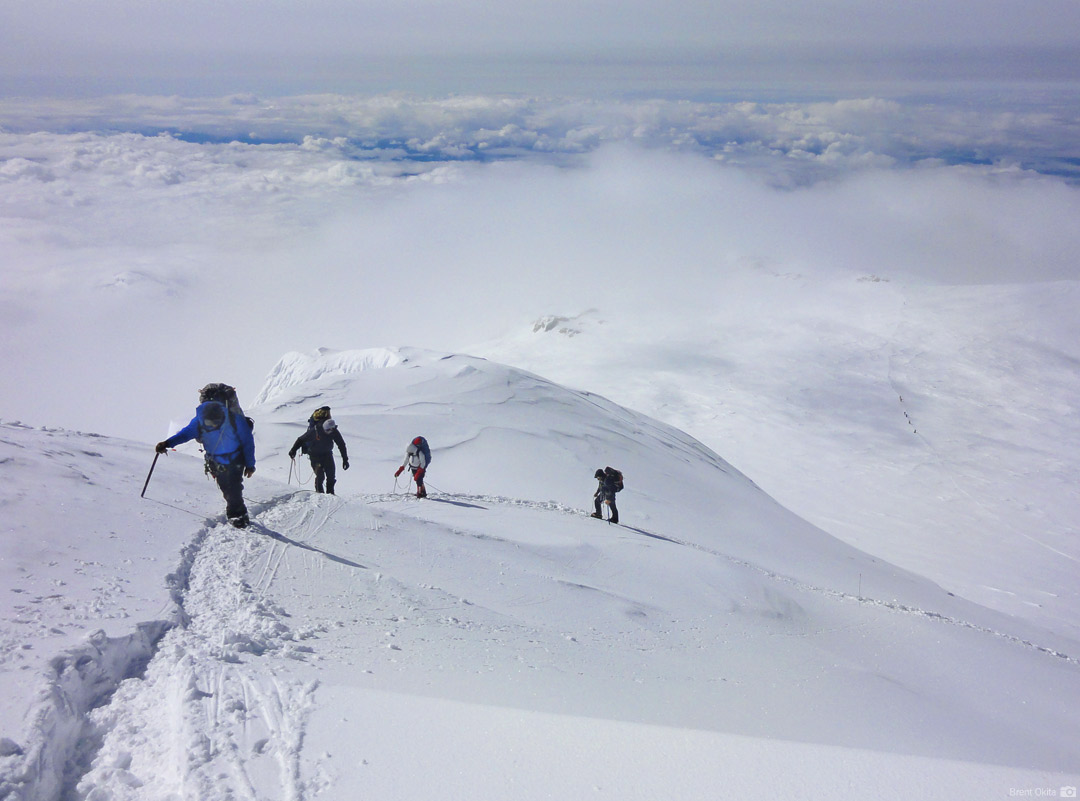An RMI Team nearing the Summit Ridge