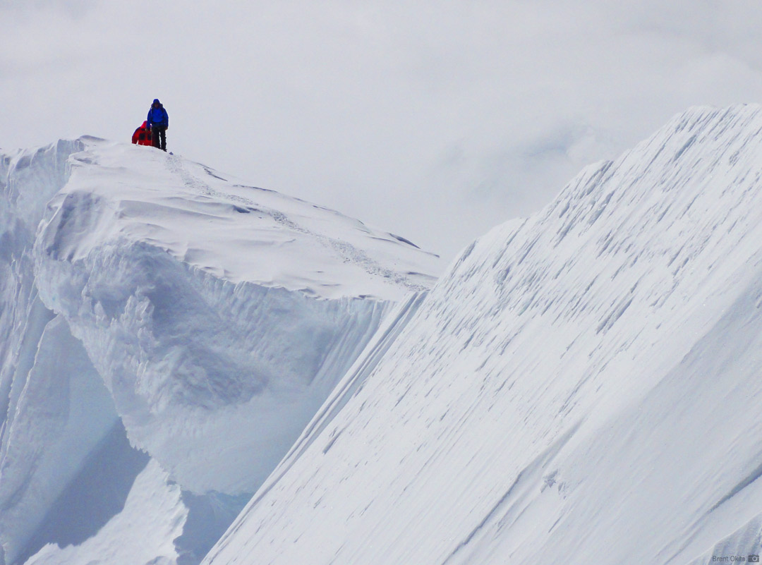 An RMI Team on the final strech of Denali's Summit Ridge