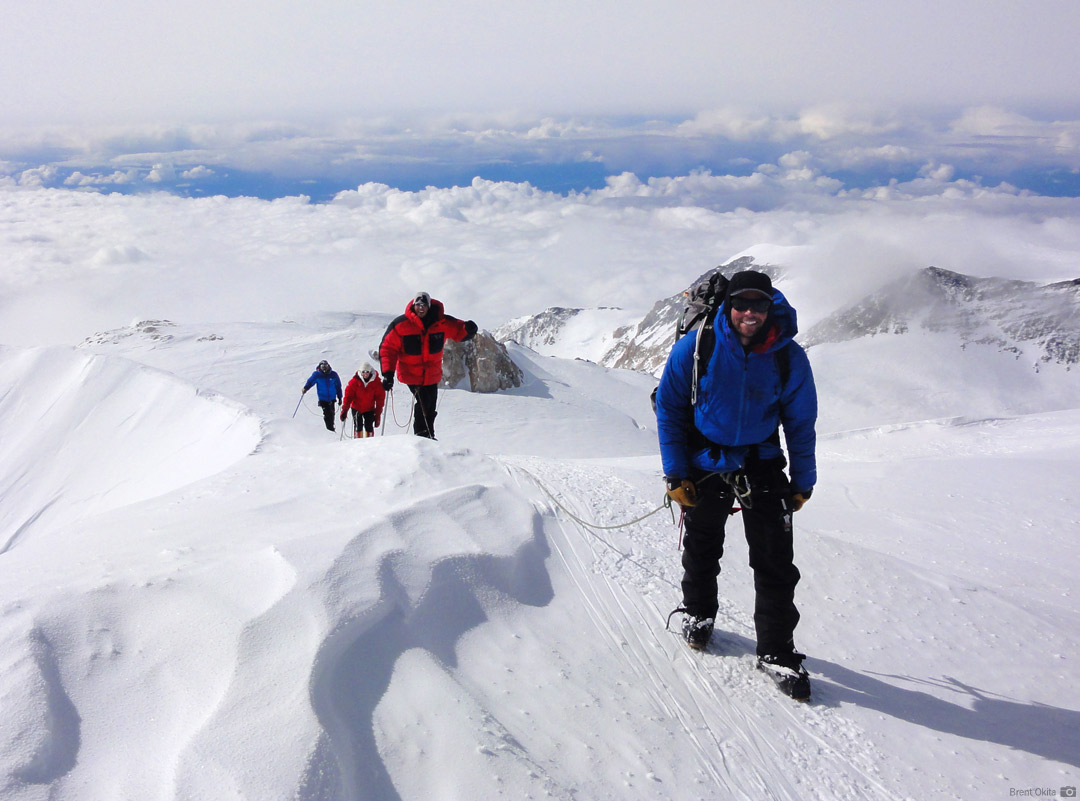 An RMI Team steps onto the summit of Mt. McKinley