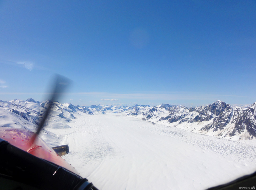 Flying into the Alaska Range
