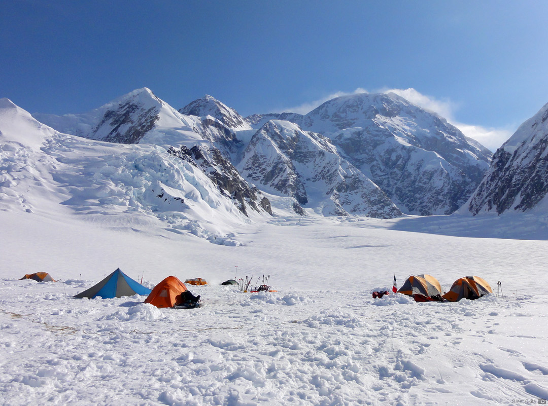 Camp 1 on the Kahiltna Glacier