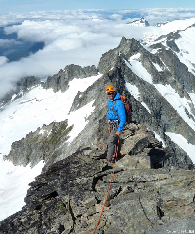 Descending the West Ridge of Forbidden Peak