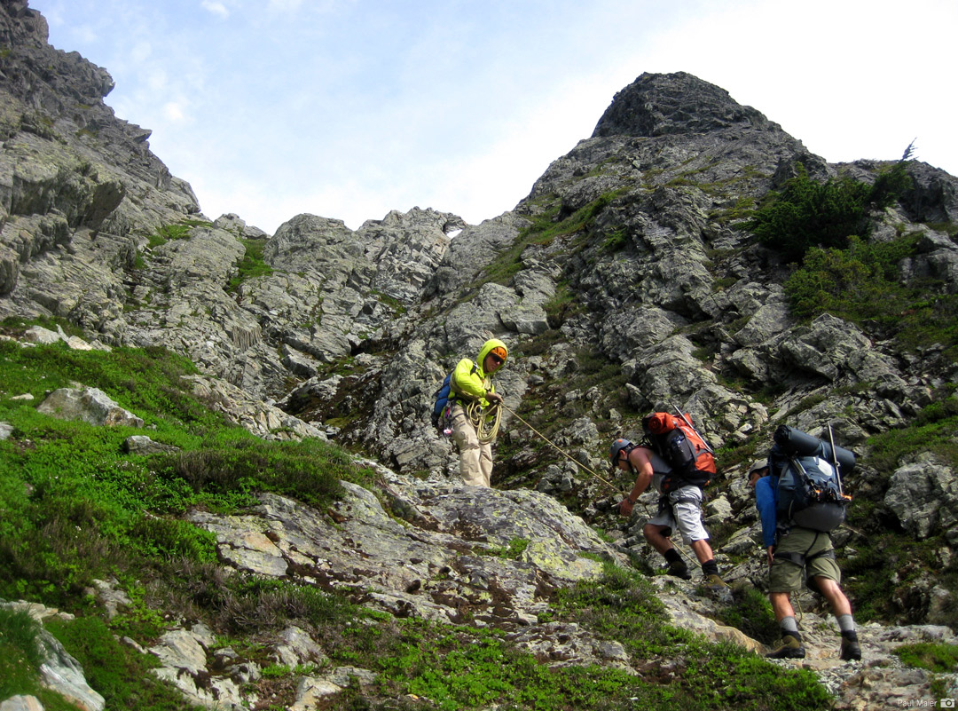 Climbing through the initial Chimneys