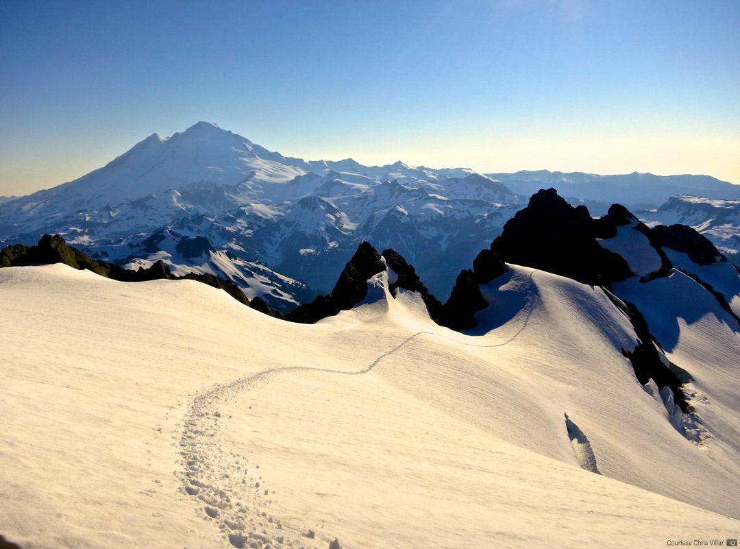 View of Mt. Baker from Mt. Shuksan's Fisher Chimneys Route