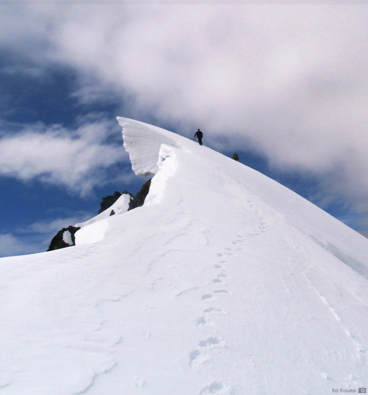 An RMI Team on the summit ridge of Sahale Mountain
