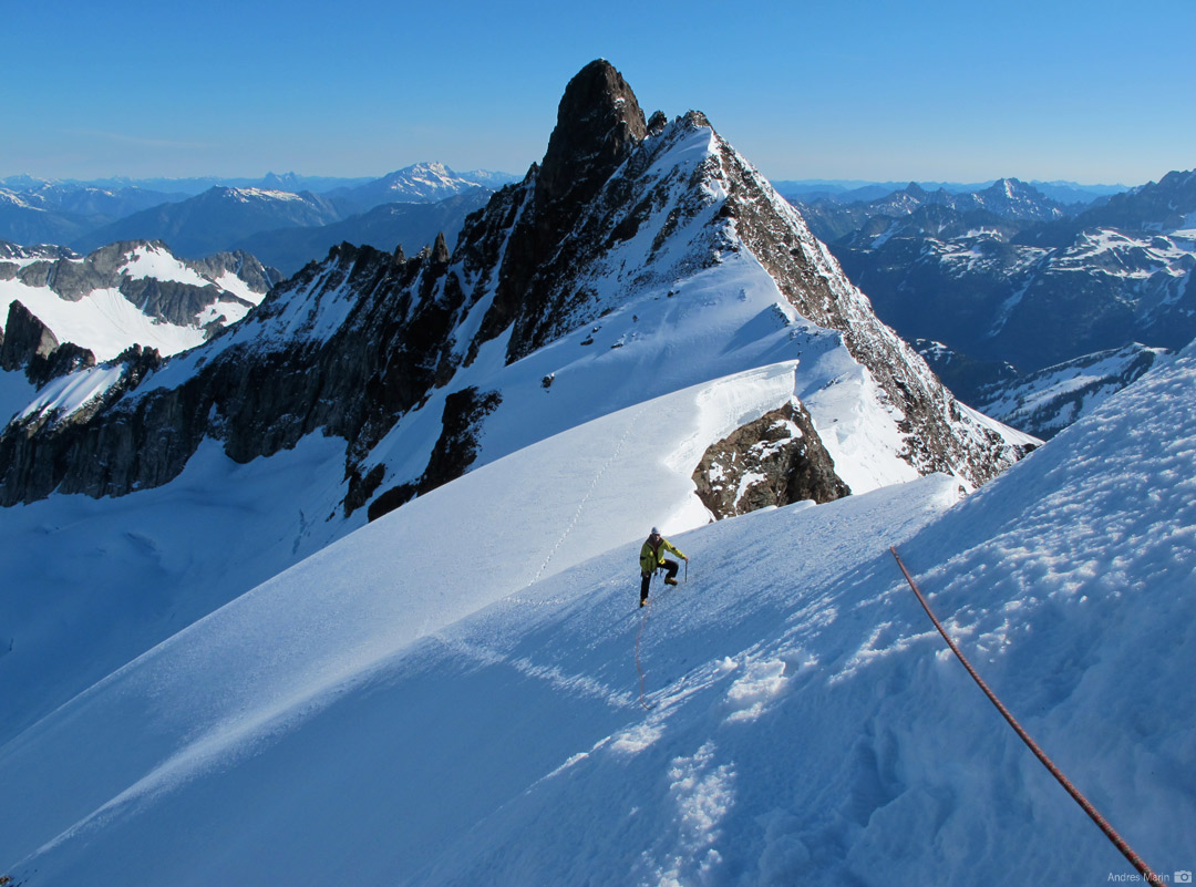Nearing the summit of Sahale Mountain