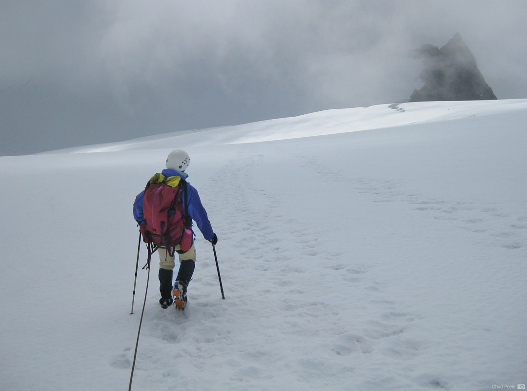 Descending the Sulphide Glacier