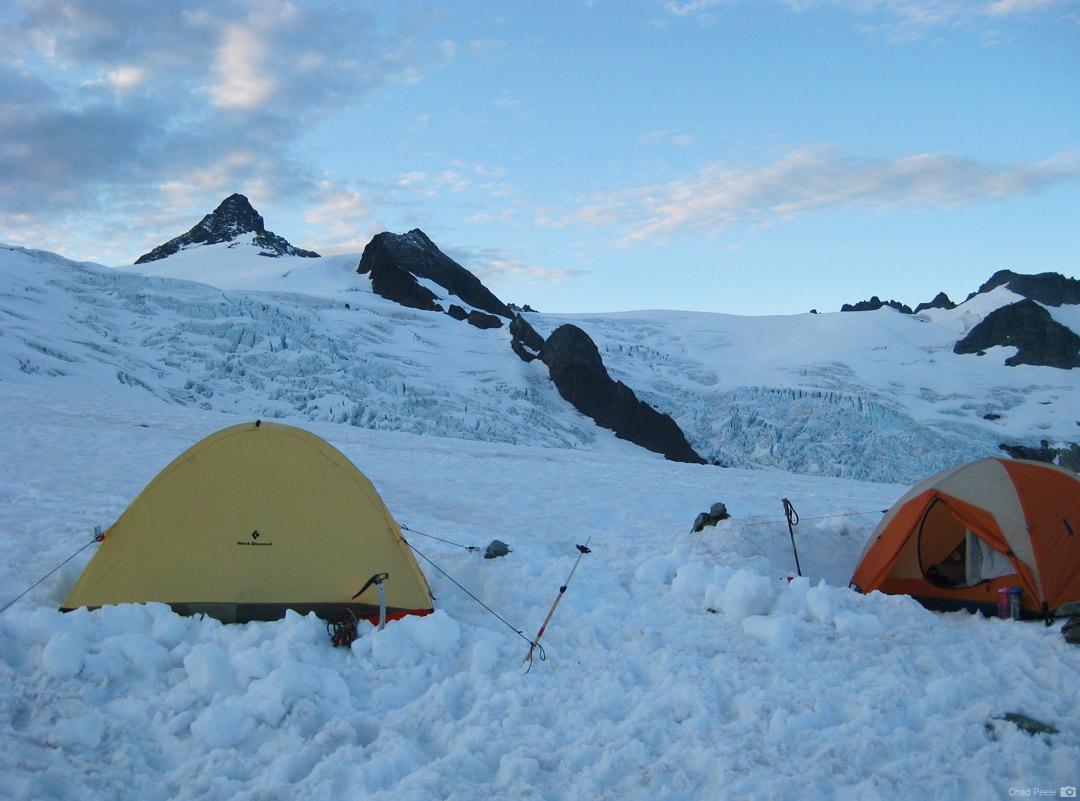 Mt. Shuksan standing over the Sulphide Glacier