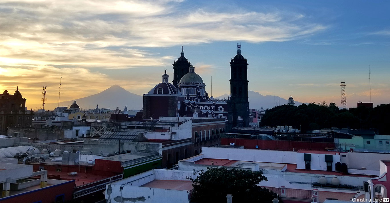 The town of Puebla