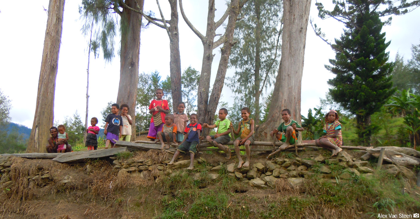 Children in a village in Papau New Guinea