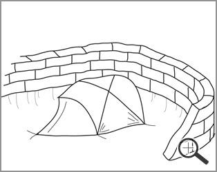 Tent Snow Walls
